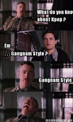 When I say I'm into K-pop people always assume/start to sing Gangnam style....THERE IS SO MUCH MORE THEN JUST GANGNAM STYLE!!!! They have NO idea!