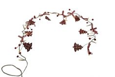 Heaven Sends Light Up Christmas Garland  A gorgeous rustic style Christmas garland with charm, made up of red gingham wooden trees and matching ribbon with battery operated lights.   A beautiful garland for your home this Christmas time.   ( Takes 3 AA Batteries - not included ) £8.95
