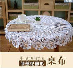 Barato Boa handmade Crochet toalha de mesa 31.5 polegada flor de crochê algodão retro americano tablemat, Compro…