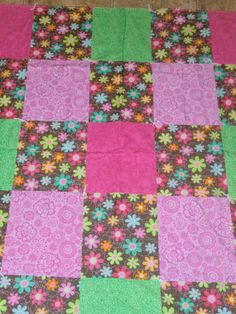 Pink & Green Floral ChildSize Throw Blanket by StitchesByDee, $22.00