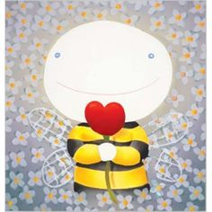 Bee My Love by Mackenzie Thorpe (I am a proud owner of this one! Little Acorns, Bee Art, Love Valentines, Valentine Hearts, London Art, Heart Art, Cute Illustration, Art Pictures, Artsy Fartsy