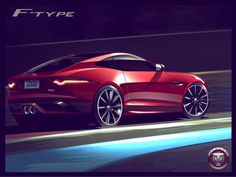 Jaguar F-Type sketch by Zach Whitaker