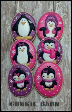 Adorable penguin cookies