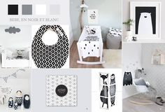 noir et blanc - Black and white baby nursery chambre bébé
