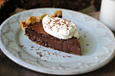 Easy Chocolate Pie|| true to it's name, it's super easy-but also delicious! Great baked fudge pie. An awesome last-minute dessert! Will make again.