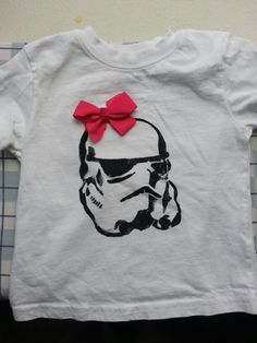 Stormtrooper stencil t-shirt for my 1yr old daughter
