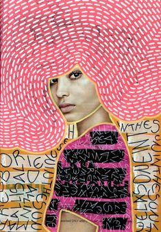 Neon Giclée Fine Art Print, Altered Fashion Woman Portrait Photography, Contemporary Art Of Manipula