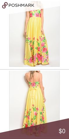 """Price is Firm! Host Pick🌸FLORAL Maxi DRESS New Small Printed Maxi Dress Length-60"""" including straps 100% Polyester  Adjustable straps  Zip at the back Gell lining on the inside top of Bust to prevent from sliding down   Approximate Measurements  Small Bust- 31"""" Waist-26""""  Medium  Bust- 32"""" Waist-28""""  Large  Bust- 36"""" Waist-30"""" Dresses Maxi"""