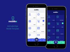 Mobilex Animated Mobile Template by SINDEVO   Themes
