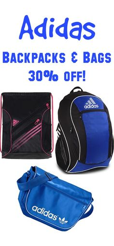 Adidas Backpacks and Bags Sale ~ 30% off!  backtoschool Adidas Backpack 6f84dbd4bbb0c
