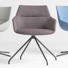 Dunas XS 2.3, Fully upholstered side chair on trestle swivel base. Hospitality, Interior, Design.