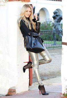 shea marie cheyenne Chanel moda blogger blog tarzı parker deri ceket metalik pantolon denim sulu Schutz balenciaga prada shine3 karşılar