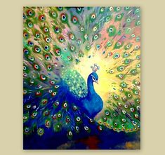 Discover thousands of images about Colorful peacock painting-Abstract Bird Painting-Original Acrylic painting-Acrylic On Canvas-Contemporary Art-READY FOR SHIPPING- by ArtSunday on Etsy Peacock Wall Art, Peacock Painting, Oil Painting Flowers, Mandala Painting, Painting Abstract, Painting Art, Painting Tips, Peacock Canvas, Abstract Canvas