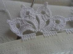 Ideas knitting stitches lace tricot for 2019 Crochet Edging Patterns, Crochet Lace Edging, Crochet Motifs, Crochet Borders, Thread Crochet, Crochet Trim, Irish Crochet, Lace Knitting, Knitting Stitches