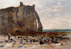Eugène Boudin Les Blanchisseuses d'Etretat, 1890