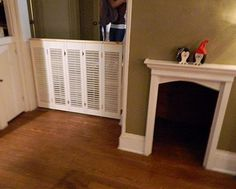 Dog gate built with shutters