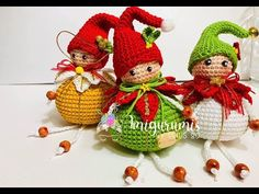 Esfera duende adorno amigurumis by Petus - YouTube Crochet Gifts, Crochet Toys, Crochet Baby, Baby Patterns, Stitch Patterns, Crochet Patterns, Christmas Items, Christmas Crafts, Diy Natal