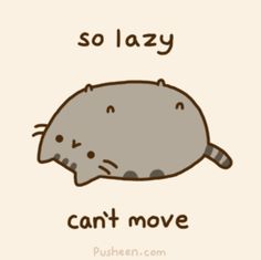 Pusheen so lazy...