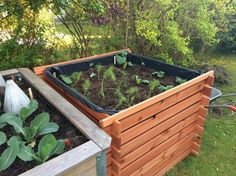 Hochbeet aus Komposter bauen Outdoor Furniture Sets, Outdoor Decor, Plants, Diy, Urban Gardening, Simple Living, Pergola, Cupcakes, Backyard Patio