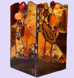 AGATES STAINED GLAS | billy morrison - STAINED GLASS :: Creations :: Candle Boxes