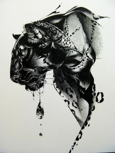 animal ink illustration
