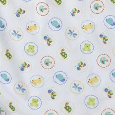 Tiddliwinks In The Pond Fitted Sheet - White/Yellow