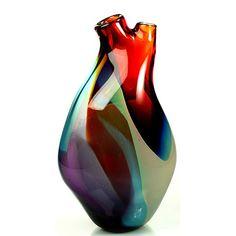 Ventrical Vase by Eva Milinkovic, Tsunami Glassworks.