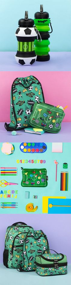 Funny Pencil Cases, Cute Lunch Bags and School Backpacks for Kids Kids Backpacks, School Backpacks, Football Accessories, Nursery Accessories, Bottle Shop, Sylvanian Families, Football Fans, Gifts For Boys, Drink Bottles