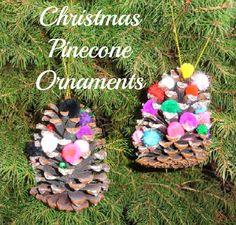 Christmas Pinecone Ornaments