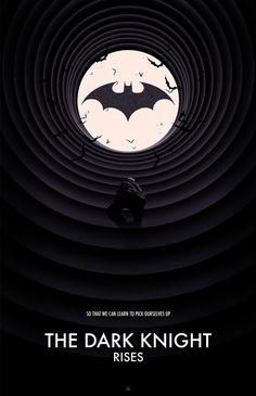 The Dark Knight Noir Trilogy Poster Set — GeekTyrant