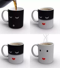 taza magica - cambia color - change mug - magenta deco