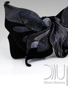 Женские сумки ручной работы. Бабочка. Диана Уланова авторские сумки. Ярмарка Мастеров. Бордовый