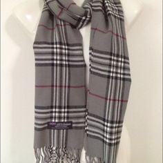 ‼️ 100% cashmere scarf plaid 100% Cashmere Scarf from Scotland.  Warm, Soft and very comfortable.  Wait till you feel this in person. Dry clean or hand washed in cold water. Please look at picture for color.  . Please allow a few days for shipping‼️. Accessories Scarves & Wraps
