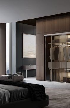 The impact of bedroom furniture will make you have a good night's sleep. Let's face it, and a modern bedroom furniture design can easily make it happen. Modern Interior Design, Interior Design Living Room, Interior Architecture, Interior Decorating, Decorating Ideas, Placard Design, Modern Closet Doors, Modern Bedroom Furniture, Furniture Vintage