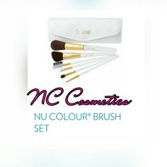 Our brushes comes with 6 makeup brushes and case x message me to order yours xx  #nuskin #nccosmetics Nu Skin, Brush Set, Makeup Brushes, Messages, Cosmetics, Color, Beauty, Colour, Beauty Products