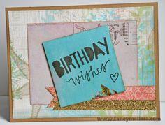 Birthday Wishes Card www.fancymelissa.com #inthepink #mycrush #seaside #lovelybirthday
