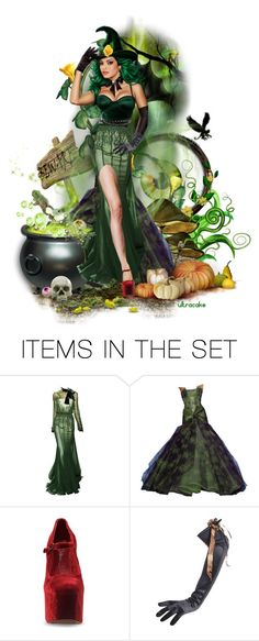 """Simply Wicked"" by ultracake ❤ liked on Polyvore featuring art, Halloween, dolls, witch, artexpression and ultracake"