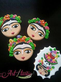 awesome Frida Khalo cookies...