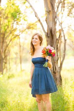We are loving this golden Australian country sunshine. Blue bridesmaid dresses!