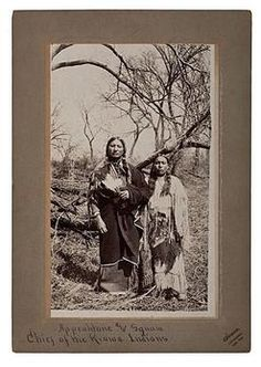 """Irwin [William E. Irwin] large-format photograph of Kiowa Chief """"Appeahtone and Squaw,"""" a large-format photograph with handwritten caption below image on mount """"Appeahtone and Squaw/ Chief of the Kiowa Indians,"""" circa 1899, with Irwin's Chickasha, Indian Territory imprint below image on mount."""