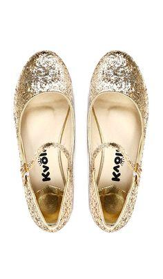 Glitter Mary Jane Flats