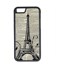 CellPowerCasesTM Vintage Paris iPhone 6 (4.7) Protective V1 Black Case ($13) ❤ liked on Polyvore featuring accessories, tech accessories, phone cases, phones, tech and black