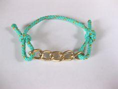 Bonus DIY: Easy Cord and Chain Bracelet