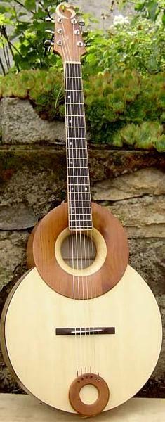 "Jean Luc Gagne ""Jazzfonic"" acoustic Guitar --- https://www.pinterest.com/lardyfatboy/"