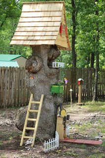 Simple Subtleties: Repurposed Tree Stump into a beautiful Gnome Home