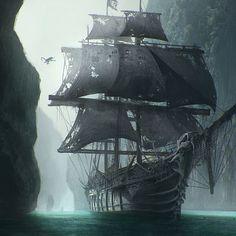 Monkey Pirate Ship concept art for Ojo