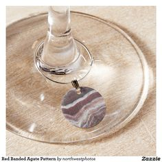 Red Banded Agate Pattern Wine Charm