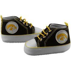 Iowa Hawkeyes Infant Black Crawler Sneakers