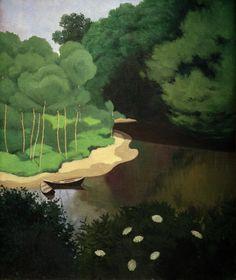 Felix Vallotton - Die Dordogne bei Carennac, 1925