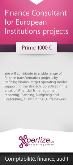 Finance Consultant for European Institutions projects #job
